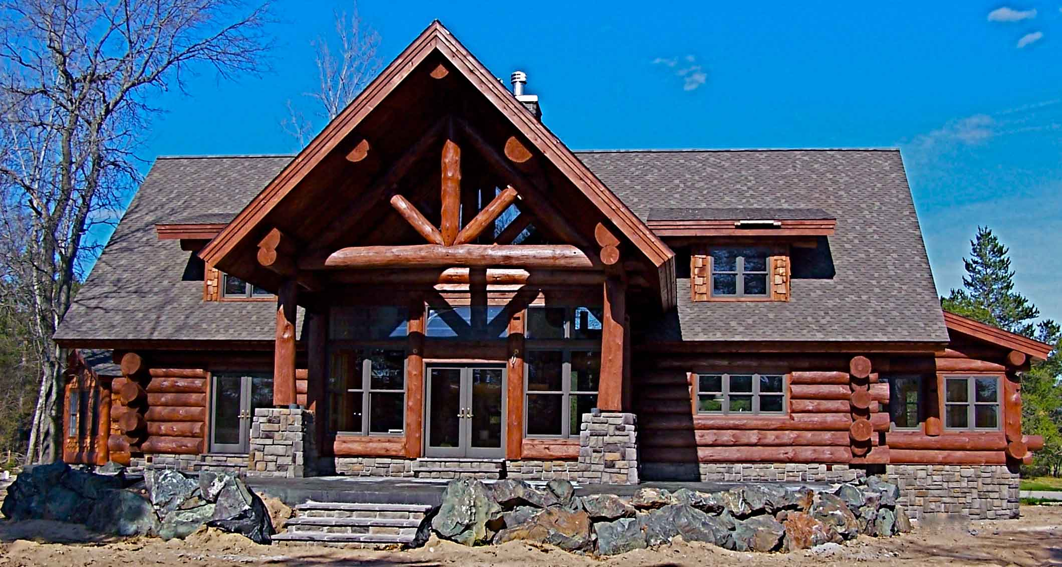 custom log home michigan