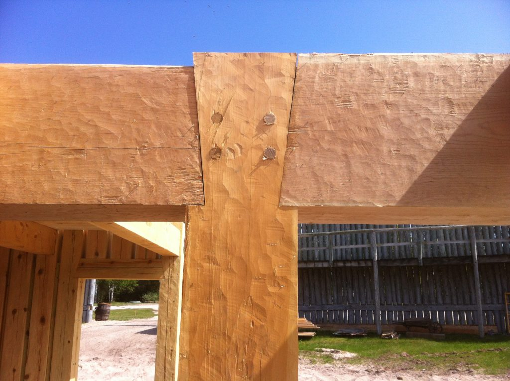 timber frame construction detail