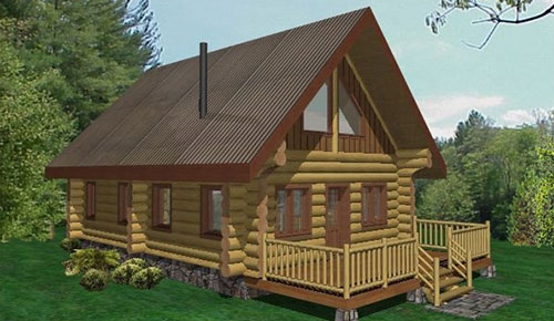 wolf creek log home plans