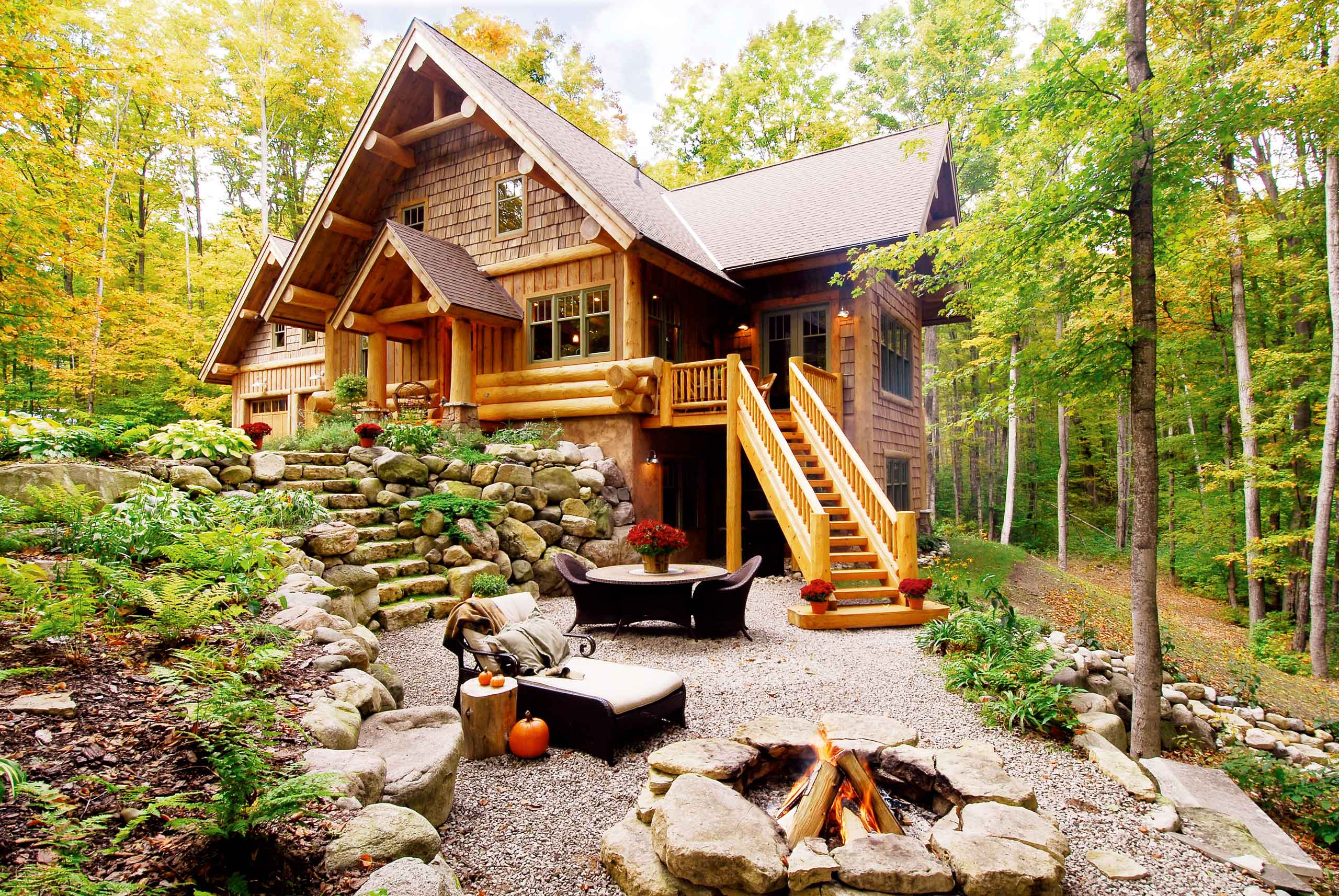 beautiful custom log home