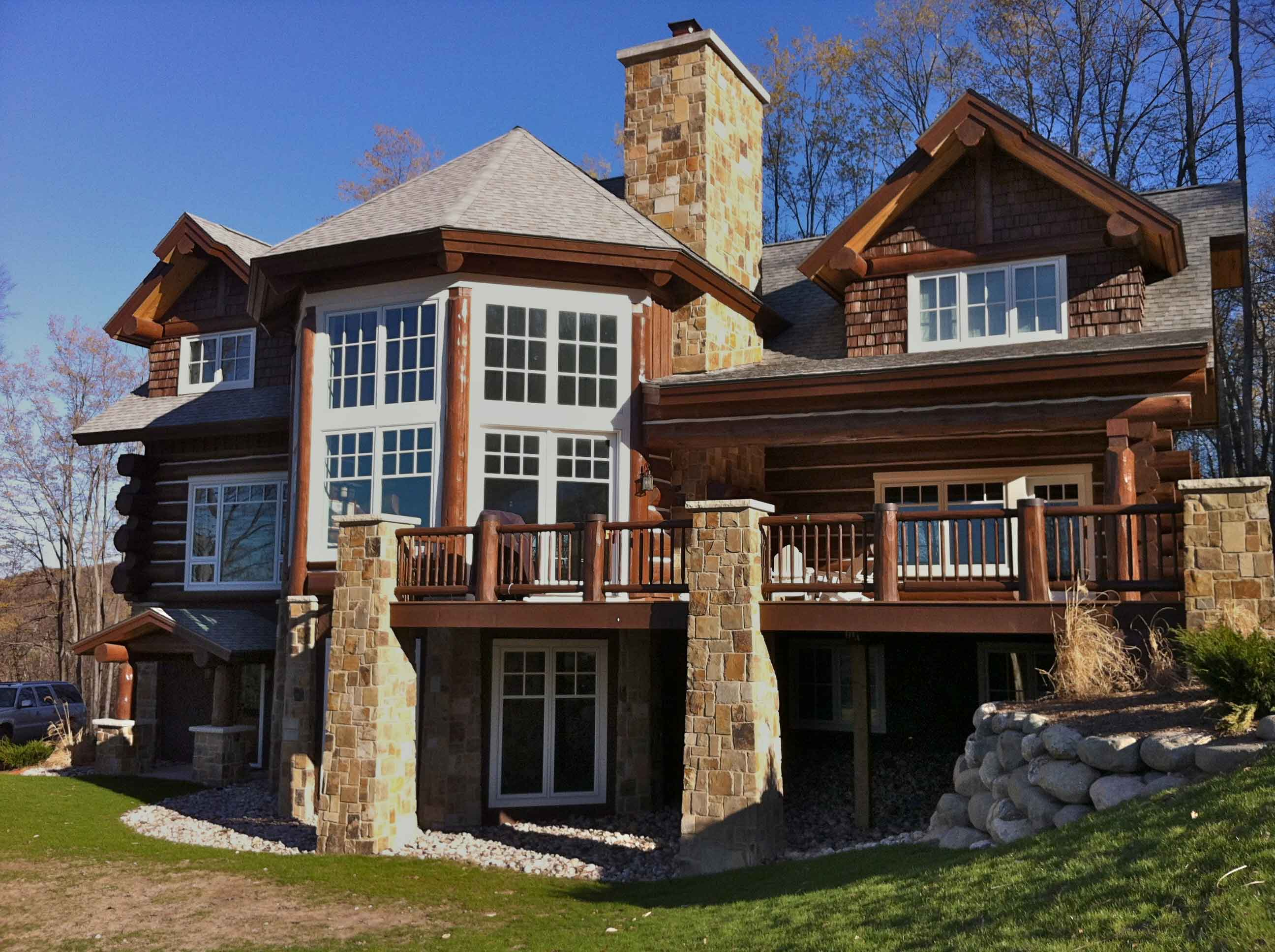 northern michigan log home